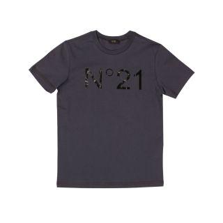 N ° 21 Cotton T-shirt With Big Logo
