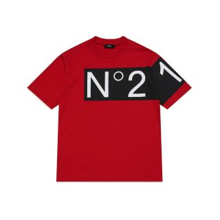 Logo Patch Unisex Red T-shirt