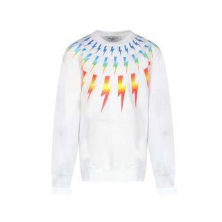 Lightning Print Sweatshirt - White