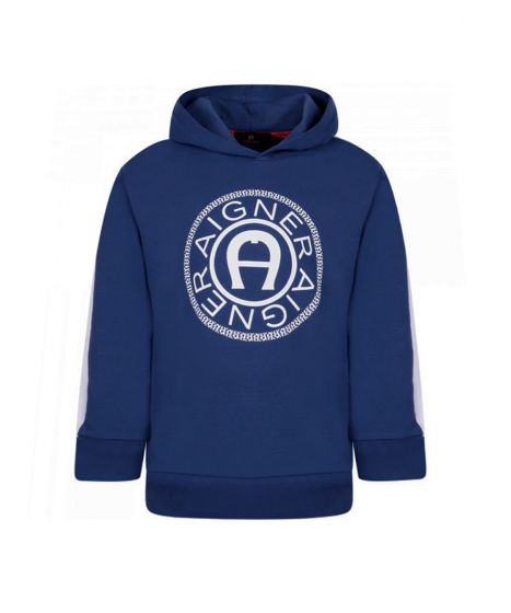 Boys Blue Cotton Hoodie