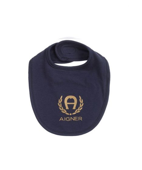 Navy Blue Blue Pima Cotton Baby Bib